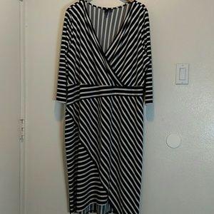 Lane Bryant Black & White striped Dress